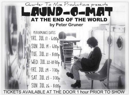 poster for Laund-O-Mat at the End of the World for 2009 Hamilton Fringe